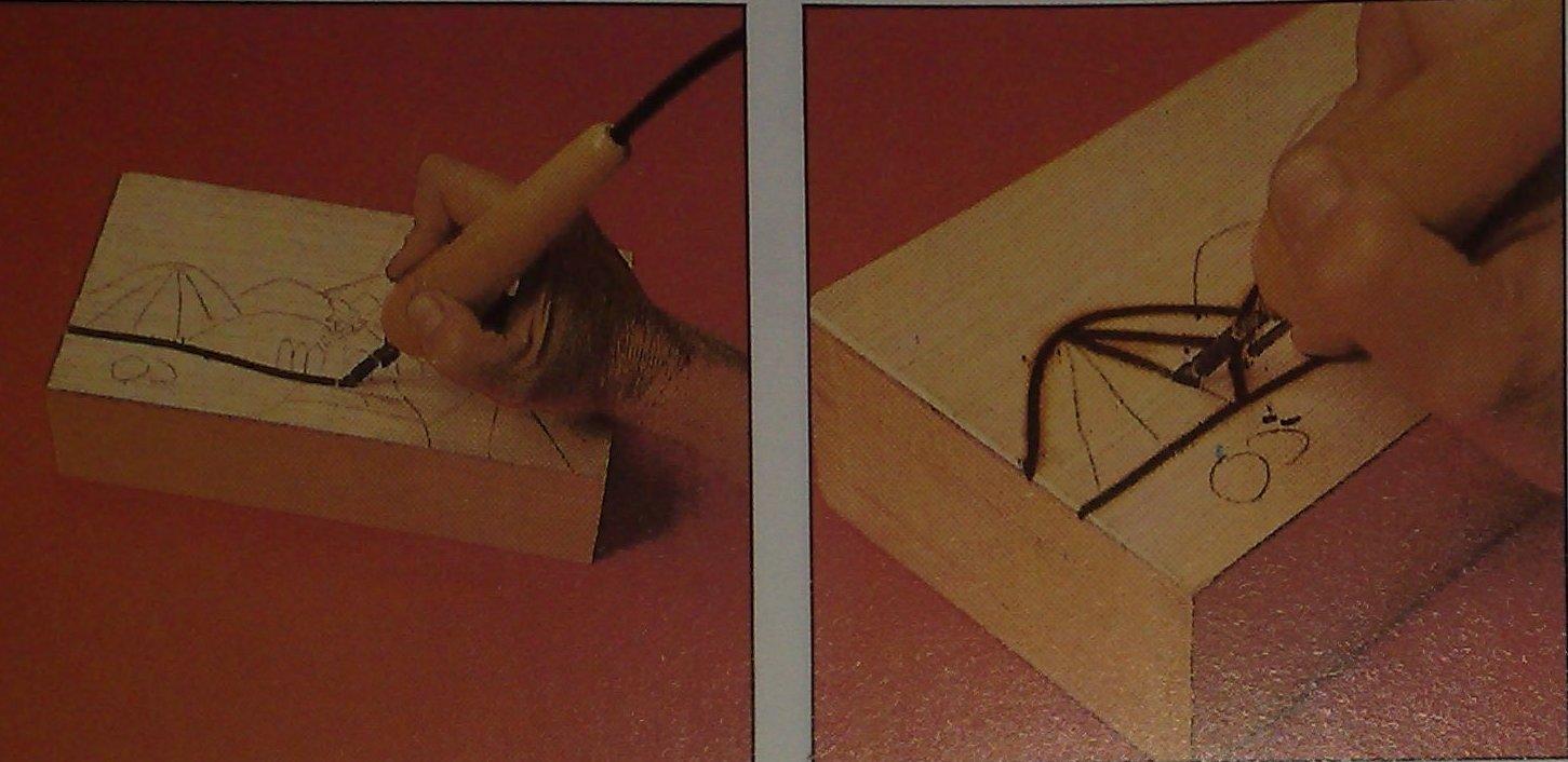 Amato Decorazione di una scatola di legno con l'uso del pirografo | Crea  PS42