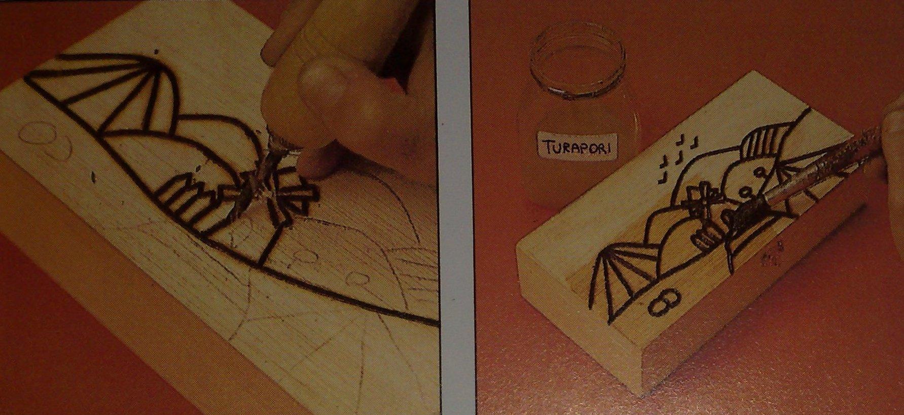 Come Scartavetrare Il Legno decorazione di una scatola di legno con l'uso del pirografo